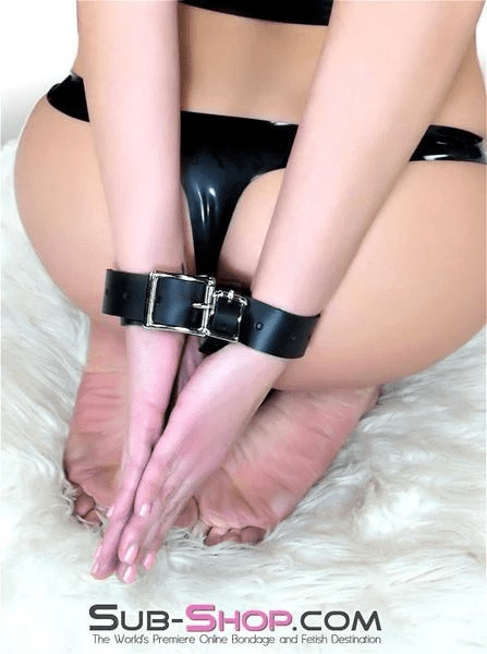 Leather Hand or Ankle Binder - Sale BDSM, Bondage Gear, Adult Toys, Bondage Sex, Orgasm Belt, Male Chastity, Bondage Gag. Bondage Slave Collars, Wrist Cuffs, Submissive, Dominant, Master, Mistress, Cross Dressing, Sex Toys, Bondage Sale, Bondage Clearance, MEGA Deal Bondage, Sub-Shop Bondage and Fetish Superstore