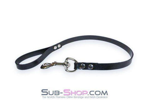 1709A    Rubber Submission Bondage Slave Leash - Sub-Shop Bondage and Fetish Superstore