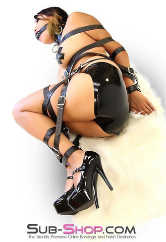 "1728A   1"" Buckling Bondage Strap, Black Leather - <b>5 Sizes!</b> - Sub-Shop.comStraps - 5"