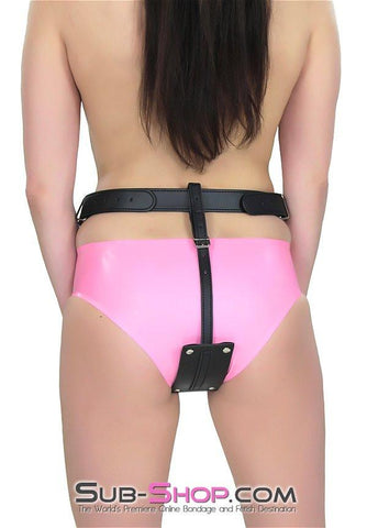 1746DL       Buckling Butt Plug Harness with Cock Ring - Sale BDSM, Bondage Gear, Adult Toys, Bondage Sex, Orgasm Belt, Male Chastity, Gags. Bondage Slave Collars, Wrist Cuffs, Submissive, Dominant, Master, Mistress, Crossdresser, Sub-Shop Bondage and Fetish Superstore