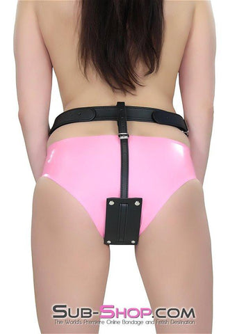 1746DL       Buckling Butt Plug Harness with Cock Ring - Sub-Shop Bondage and Fetish Superstore