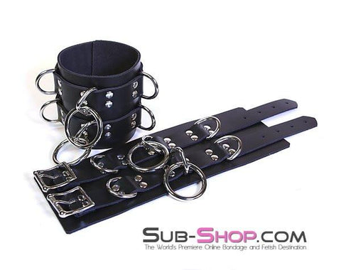 "1755A Total Control 4"" Leather Ankle Cuffs - Sub-Shop.comWrist and Ankle Bondage - 3"