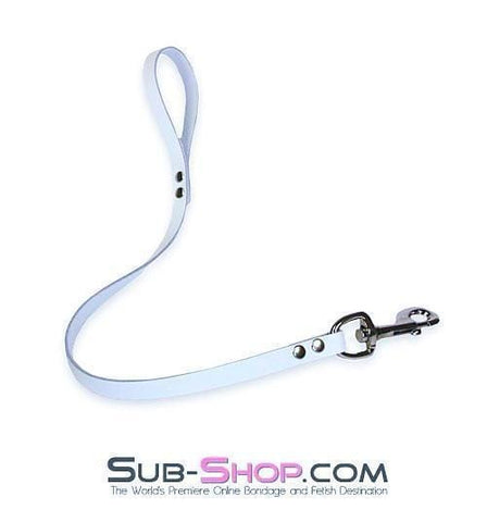 1759A   Submission Short Leather Lead, White - Sub-Shop.comLeash - 2