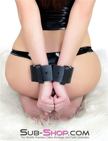 1766A   Wide Leather Buckling Handcuffs - Sub-Shop Bondage and Fetish Superstore