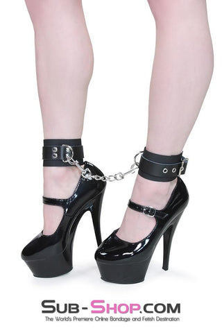 1789DL      Comfort Cuffs Braided Nylon Ankle Cuffs with Leatherette Buckling Strap - <b>MEGA Deal!</b>