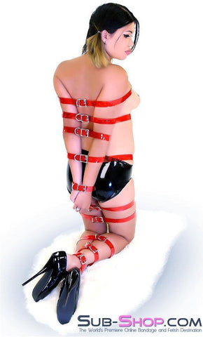 "1792A   Passion Red Luxe PVC 1"" Bondage Straps - <b>6 Sizes!</b> - Sub-Shop.comStraps - 1"