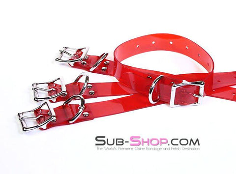 "1792A   Passion Red Luxe PVC 1"" Bondage Straps - <b>6 Sizes!</b> - Sub-Shop.comStraps - 2"