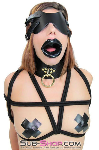 1800AE      Rag Doll Gothic Black Sex Doll Lips Open Mouth Gag - Sub-Shop.comGags - 1