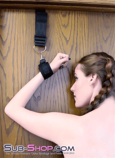 1812DL      Door Bangers Wrist & Ankle Spread Eagle Cuffs Set - Sale BDSM, Bondage Gear, Adult Toys, Bondage Sex, Orgasm Belt, Male Chastity, Gags. Bondage Slave Collars, Wrist Cuffs, Submissive, Dominant, Master, Mistress, Crossdresser, Sub-Shop Bondage and Fetish Superstore