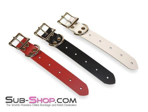 "1825A     8"" Bondage Gear Extender Strap, Red Leather - Sub-Shop.comStraps - 2"