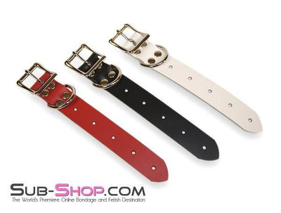 "1824A     8"" Bondage Gear Extender Strap, White Leather - Sale BDSM, Bondage Gear, Adult Toys, Bondage Sex, Orgasm Belt, Male Chastity, Gags. Bondage Slave Collars, Wrist Cuffs, Submissive, Dominant, Master, Mistress, Crossdresser, Sub-Shop Bondage and Fetish Superstore"