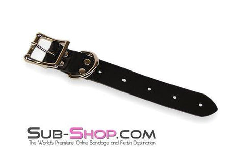 "1827A     8"" Bondage Gear Extender Strap, Black Luxe PVC - Sub-Shop Bondage and Fetish Superstore"