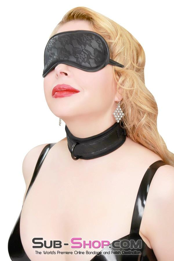 Lace Print Faux Leather Satin Lined Blindfold - Sale BDSM, Bondage Gear, Adult Toys, Bondage Sex, Orgasm Belt, Male Chastity, Bondage Gag. Bondage Slave Collars, Wrist Cuffs, Submissive, Dominant, Master, Mistress, Cross Dressing, Sex Toys, Bondage Sale, Bondage Clearance, MEGA Deal Bondage, Sub-Shop Bondage and Fetish Superstore