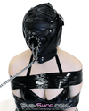 193SM      Complete Captive Locking Sensory Deprivation Hood with Open Mouth Plug Gag - Sale BDSM, Bondage Gear, Adult Toys, Bondage Sex, Orgasm Belt, Male Chastity, Gags. Bondage Slave Collars, Wrist Cuffs, Submissive, Dominant, Master, Mistress, Crossdresser, Sub-Shop Bondage and Fetish Superstore
