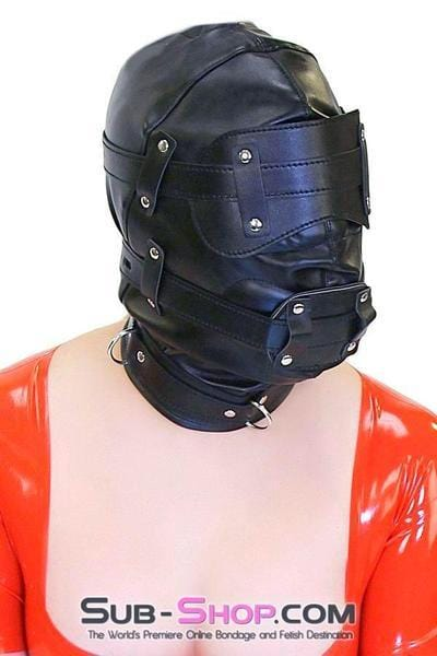 Total Lockdown Full Locking Hood with Removable Blindfold & Penis Gag - Sale BDSM, Bondage Gear, Adult Toys, Bondage Sex, Orgasm Belt, Male Chastity, Bondage Gag. Bondage Slave Collars, Wrist Cuffs, Submissive, Dominant, Master, Mistress, Cross Dressing, Sex Toys, Bondage Sale, Bondage Clearance, MEGA Deal Bondage, Sub-Shop Bondage and Fetish Superstore
