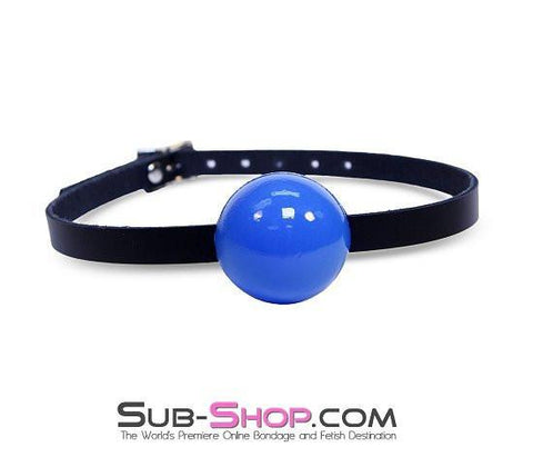 196A      Classic Ball Gag Strap, Royal Blue Ball - Sub-Shop.comGags - 5