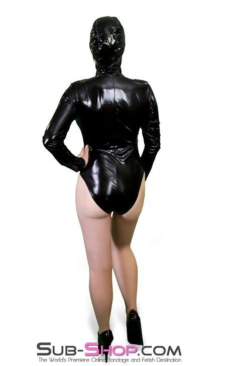 2200ZG   Bondage Girl Hooded Black Vinyl PVC Bodysuit - Sale BDSM, Bondage Gear, Adult Toys, Bondage Sex, Orgasm Belt, Male Chastity, Gags. Bondage Slave Collars, Wrist Cuffs, Submissive, Dominant, Master, Mistress, Crossdresser, Sub-Shop Bondage and Fetish Superstore