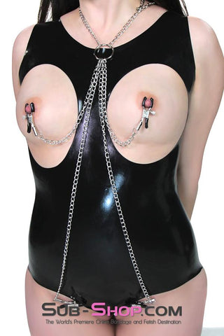 221DL      Serving Chains Collar, Nipple and Pussy Clamps Set