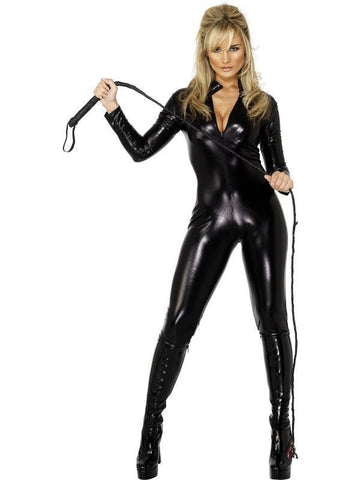 2220ZG   Black Widow PVC Black Catsuit with Full Crotch Zipper - Sub-Shop.comCatsuit - 10