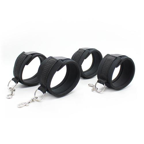 2231M    Bed Bindings Bondage Padded Wrist & Ankle Cuffs and Bed Straps Starter Kit - Sale BDSM, Bondage Gear, Adult Toys, Bondage Sex, Orgasm Belt, Male Chastity, Gags. Bondage Slave Collars, Wrist Cuffs, Submissive, Dominant, Master, Mistress, Crossdresser, Sub-Shop Bondage and Fetish Superstore