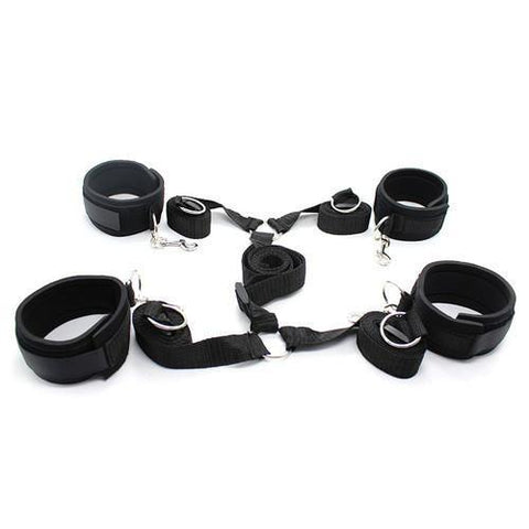 2231M    Bed Bindings Bondage Padded Wrist & Ankle Cuffs and Bed Straps Starter Kit - <b>Deal FRENZY!</b> - Sub-Shop Bondage and Fetish Superstore