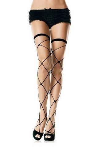 2254L    Sexy Bondage Legs Jumbo Net Thigh High Stockings - Sub-Shop.comStockings