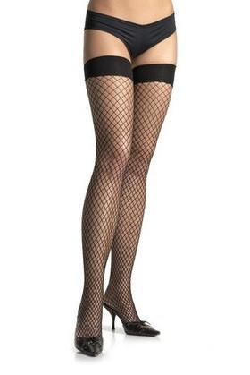 2255L    Stay Up Late Lycra Industrial Net Fishnet Thigh High Stockings - Sub-Shop.comStockings