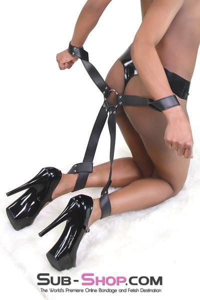 Quick Hogtie Leatherette Self Bondage Slip On - Sale BDSM, Bondage Gear, Adult Toys, Bondage Sex, Orgasm Belt, Male Chastity, Bondage Gag. Bondage Slave Collars, Wrist Cuffs, Submissive, Dominant, Master, Mistress, Cross Dressing, Sex Toys, Bondage Sale, Bondage Clearance, MEGA Deal Bondage, Sub-Shop Bondage and Fetish Superstore