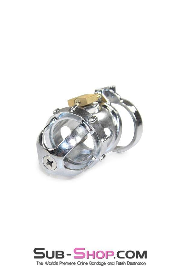 2351AR      Fort Knox Locking Heavy Metal Chastity with Removable Urethral Sound