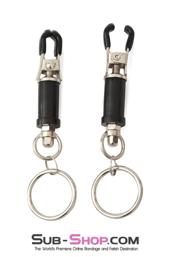 Barrel Style Twist Closure Nipple Clamps with Weight Hanging Rings - Sale BDSM, Bondage Gear, Adult Toys, Bondage Sex, Orgasm Belt, Male Chastity, Bondage Gag. Bondage Slave Collars, Wrist Cuffs, Submissive, Dominant, Master, Mistress, Cross Dressing, Sex Toys, Bondage Sale, Bondage Clearance, MEGA Deal Bondage, Sub-Shop Bondage and Fetish Superstore
