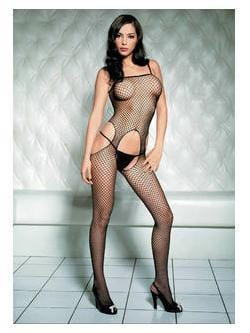 242L     Seamless Black Industrial Fishnet Suspender Bodystocking - Sub-Shop.comStockings - 3