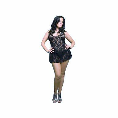245L     Rose Lace Black Flower Halter Mini Dress with Matching G-String - Sub-Shop.comMini Dress - 5