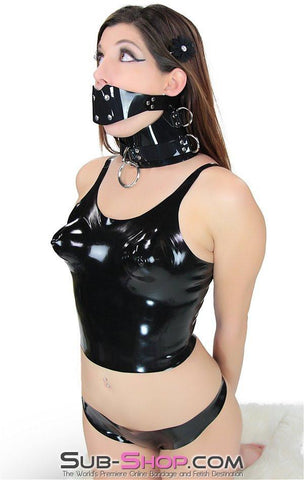 2934D      Latex Rubber Moulded Bra Crop Top - Sub-Shop Bondage and Fetish Superstore