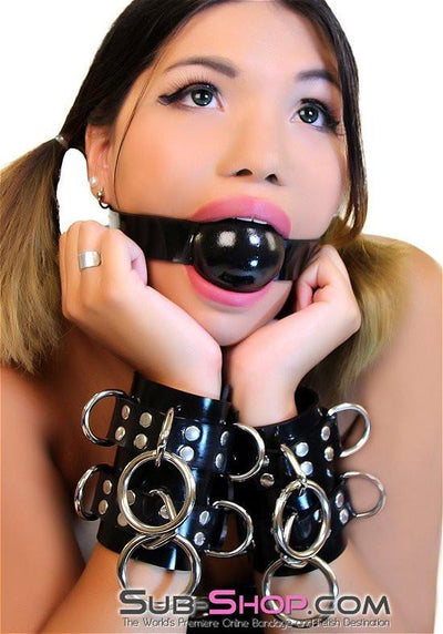 "2494A   Rubber Strap 2"" Large Ballgag, Black Ball - Sale BDSM, Bondage Gear, Adult Toys, Bondage Sex, Orgasm Belt, Male Chastity, Gags. Bondage Slave Collars, Wrist Cuffs, Submissive, Dominant, Master, Mistress, Crossdresser, Sub-Shop Bondage and Fetish Superstore"