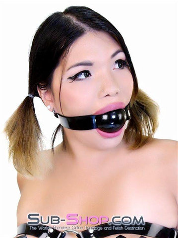 "2494A   Rubber Strap 2"" Large Ballgag, Black Ball - Sub-Shop.comGags - 1"