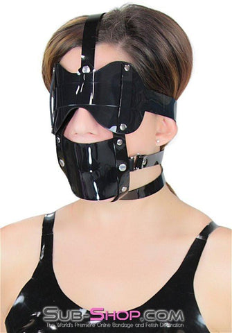 439A     Black Luxe PVC Cross Strap Panel Ball Gag Trainer - Sale BDSM, Bondage Gear, Adult Toys, Bondage Sex, Orgasm Belt, Male Chastity, Gags. Bondage Slave Collars, Wrist Cuffs, Submissive, Dominant, Master, Mistress, Crossdresser, Sub-Shop Bondage and Fetish Superstore