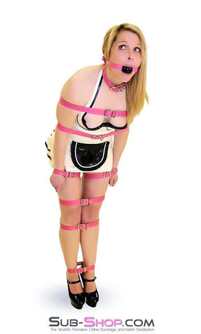 4781A      Hot Pink Leather Buckling Bondage Straps - <b>5 Sizes!</b> - Sub-Shop.comStraps - 5