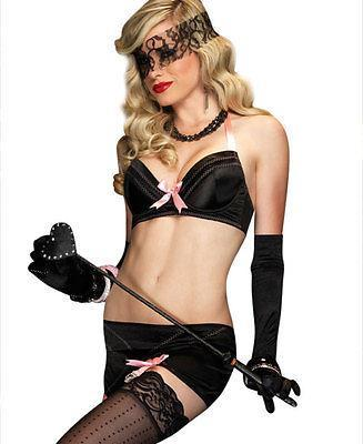 257L      Boudoir Babe Bows Black & Pink Lace & Bows 2 Pc. Set - <b>Black Friday Blowout!</b> - Sub-Shop Bondage and Fetish Superstore