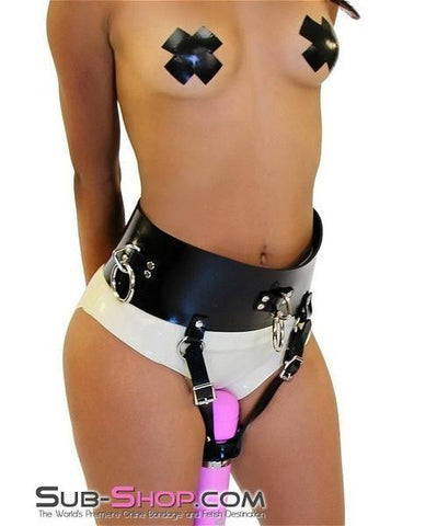2707A   Rubber Bound to Cum Multiple Orgasms Belt - Sub-Shop.comVibrator Harness - 4