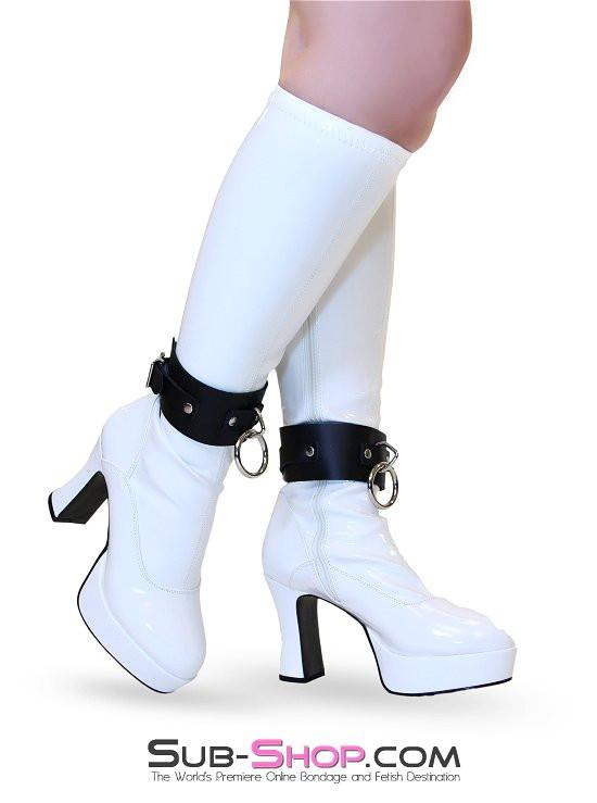 2752A   Dressed for Sex Ankle Cuffs, Black Leather - Sale BDSM, Bondage Gear, Adult Toys, Bondage Sex, Orgasm Belt, Male Chastity, Gags. Bondage Slave Collars, Wrist Cuffs, Submissive, Dominant, Master, Mistress, Crossdresser, Sub-Shop Bondage and Fetish Superstore