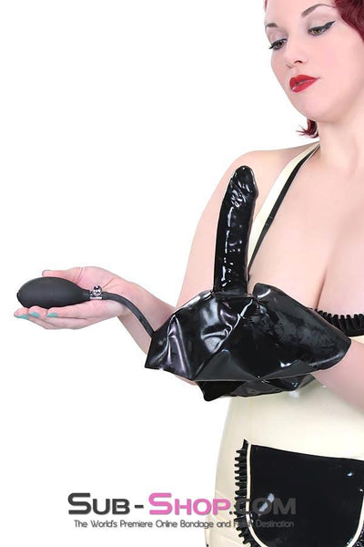 2958D  Inflatable Latex Dildo Panties - Sale BDSM, Bondage Gear, Adult Toys, Bondage Sex, Orgasm Belt, Male Chastity, Gags. Bondage Slave Collars, Wrist Cuffs, Submissive, Dominant, Master, Mistress, Crossdresser, Sub-Shop Bondage and Fetish Superstore