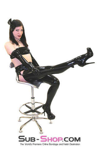 2976D    Black Latex Fitted Stockings - Sale BDSM, Bondage Gear, Adult Toys, Bondage Sex, Orgasm Belt, Male Chastity, Gags. Bondage Slave Collars, Wrist Cuffs, Submissive, Dominant, Master, Mistress, Crossdresser, Sub-Shop Bondage and Fetish Superstore