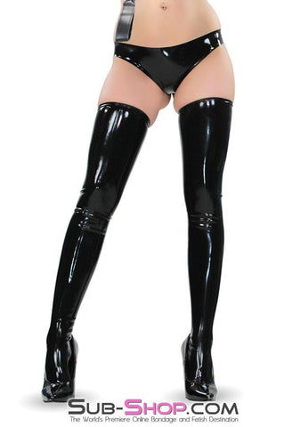 2976D    Black Latex Fitted Stockings - Sub-Shop Bondage and Fetish Superstore