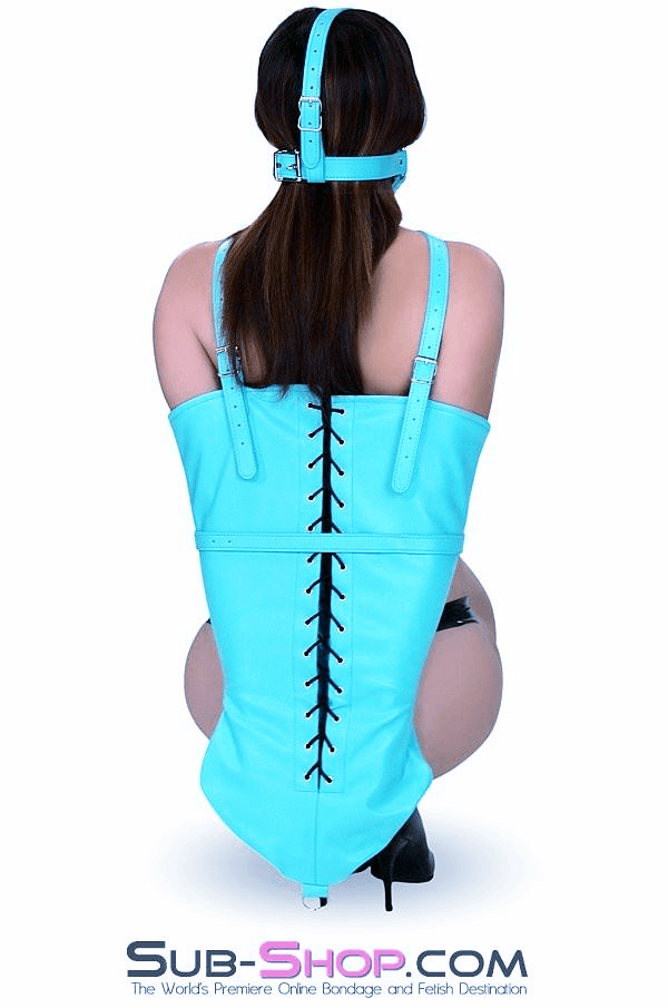 3455RS     Play With Me Master Diamond Blue Lacing Bondage Armbinder - <b>MEGA Deal!</b> - Sale BDSM, Bondage Gear, Adult Toys, Bondage Sex, Orgasm Belt, Male Chastity, Gags. Bondage Slave Collars, Wrist Cuffs, Submissive, Dominant, Master, Mistress, Crossdresser, Sub-Shop Bondage and Fetish Superstore