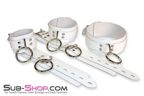 9740A      Pure Submission Locking Leather Wrist Cuffs - Sale BDSM, Bondage Gear, Adult Toys, Bondage Sex, Orgasm Belt, Male Chastity, Gags. Bondage Slave Collars, Wrist Cuffs, Submissive, Dominant, Master, Mistress, Crossdresser, Sub-Shop Bondage and Fetish Superstore