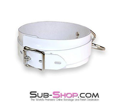 3667A    Pure Submission Locking Leather Collar - Sale BDSM, Bondage Gear, Adult Toys, Bondage Sex, Orgasm Belt, Male Chastity, Gags. Bondage Slave Collars, Wrist Cuffs, Submissive, Dominant, Master, Mistress, Crossdresser, Sub-Shop Bondage and Fetish Superstore