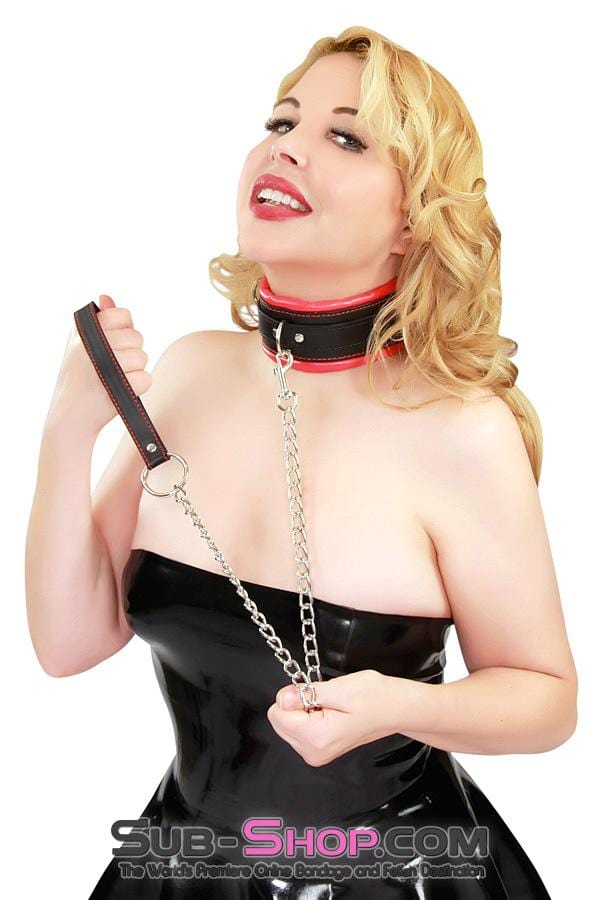 Soft Submission Padded Red and Black Bondage Collar and Leash Set - Sale BDSM, Bondage Gear, Adult Toys, Bondage Sex, Orgasm Belt, Male Chastity, Bondage Gag. Bondage Slave Collars, Wrist Cuffs, Submissive, Dominant, Master, Mistress, Cross Dressing, Sex Toys, Bondage Sale, Bondage Clearance, MEGA Deal Bondage, Sub-Shop Bondage and Fetish Superstore
