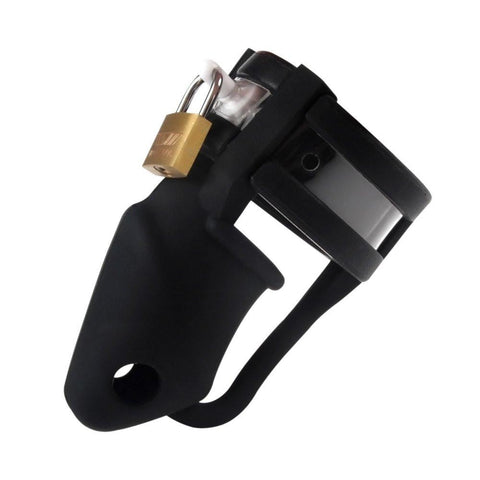 3780HS    Black Silicone Cock Trap Locking Chastity Set - Sub-Shop.comChastity - 1