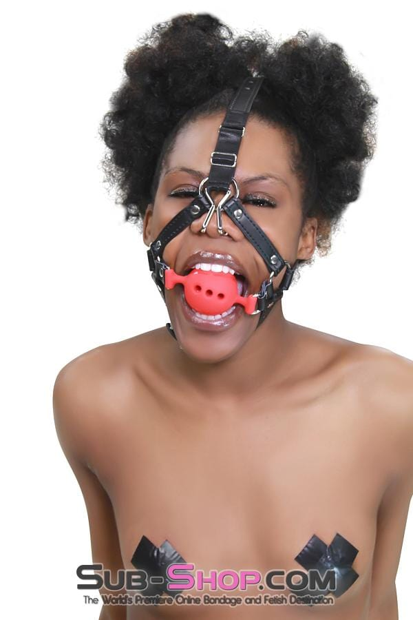 "2"" Large Red Silicone Breather Ball Gag Trainer with Nose Hook - Sale BDSM, Bondage Gear, Adult Toys, Bondage Sex, Orgasm Belt, Male Chastity, Bondage Gag. Bondage Slave Collars, Wrist Cuffs, Submissive, Dominant, Master, Mistress, Cross Dressing, Sex Toys, Bondage Sale, Bondage Clearance, MEGA Deal Bondage, Sub-Shop Bondage and Fetish Superstore"