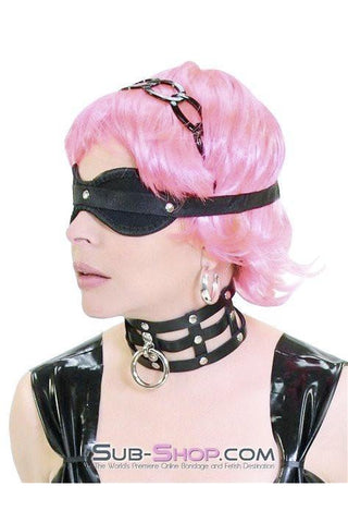 424HS   Blind Desire Black Bondage Blindfold - Sub-Shop Bondage and Fetish Superstore